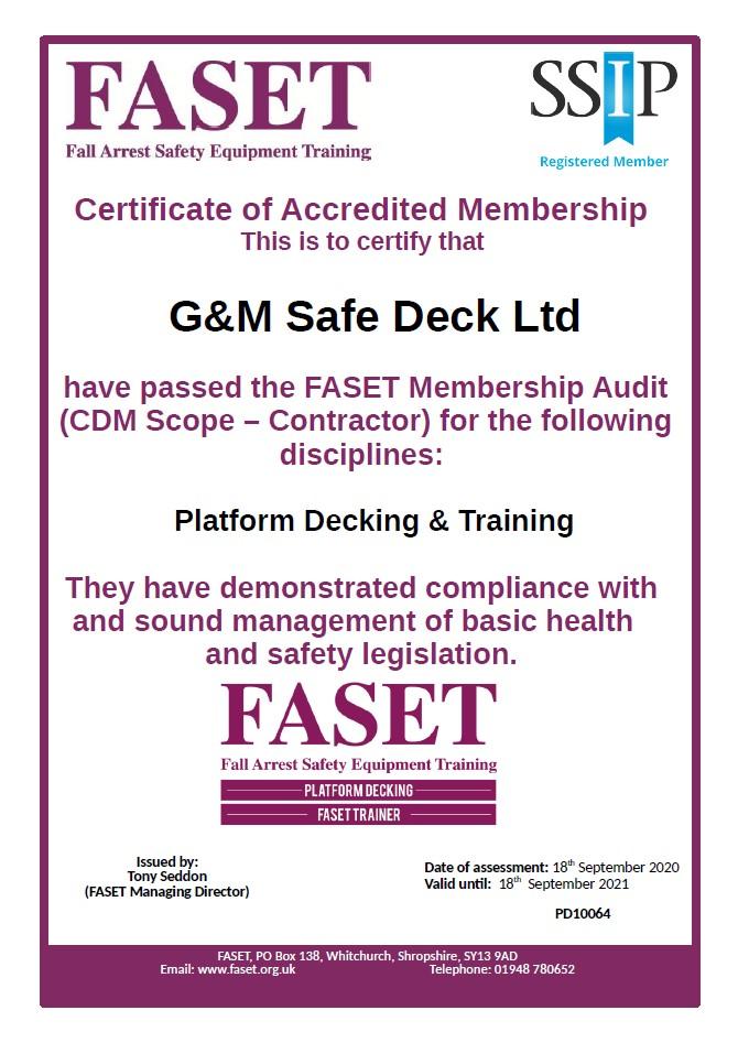 Renewed FASET Membership