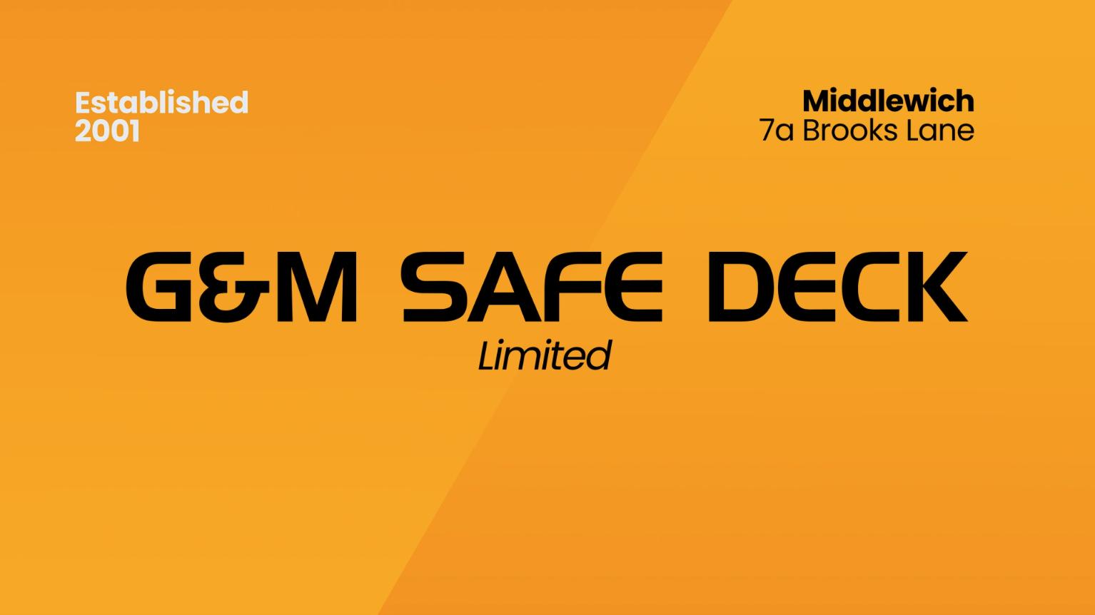 Safety Decking - G&M Safe Deck